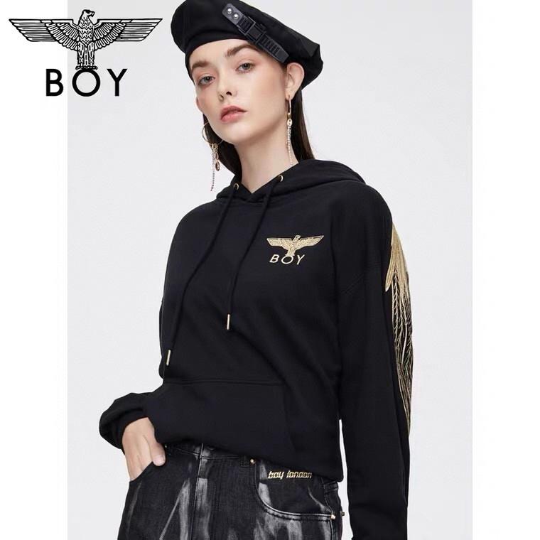 新款原单BOY LONDON 刺绣翅膀情侣休闲连帽卫衣 一件代发