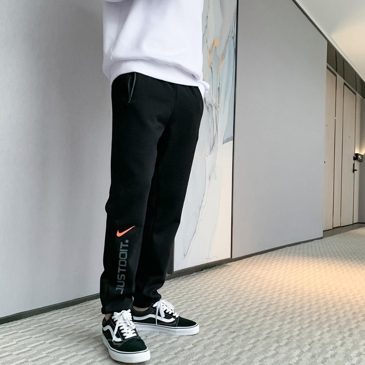 20年新款NIKE耐克加绒加厚水貂绒卫裤  一件代发