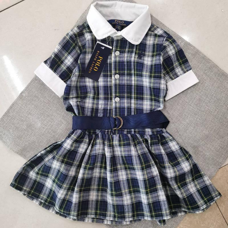 原单POLO格子连衣裙,尺寸100一150 10条起批
